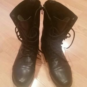 Steve Madden Black Motorcycle Boots